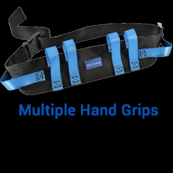 Secure® Six Hand Grip Transfer & Walking Belt - Multiple Hand Grips