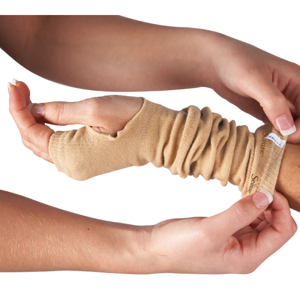 Ultra Soft Wound Prevention SecureSleeves for Arms in Brown