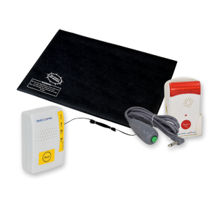 Caregiver Alert System Fall Alarm Monitor & Pager Alert MAT-1 Set