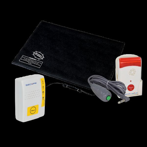 Caregiver Alert System Fall Alarm Monitor & Pager Alert MAT-1 Set