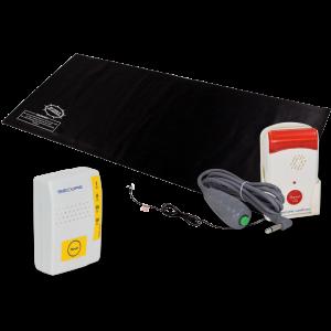 Caregiver Alert System Fall Alarm Monitor & Pager Alert Mat-2 Set