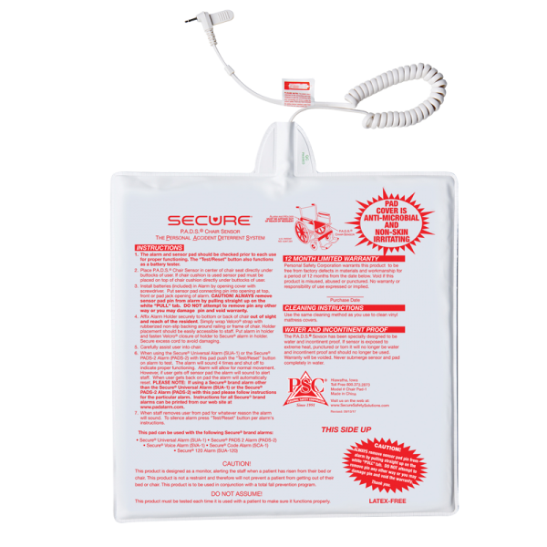 """Secure® 12"""" x 12"""" One Year Chair Pad"""