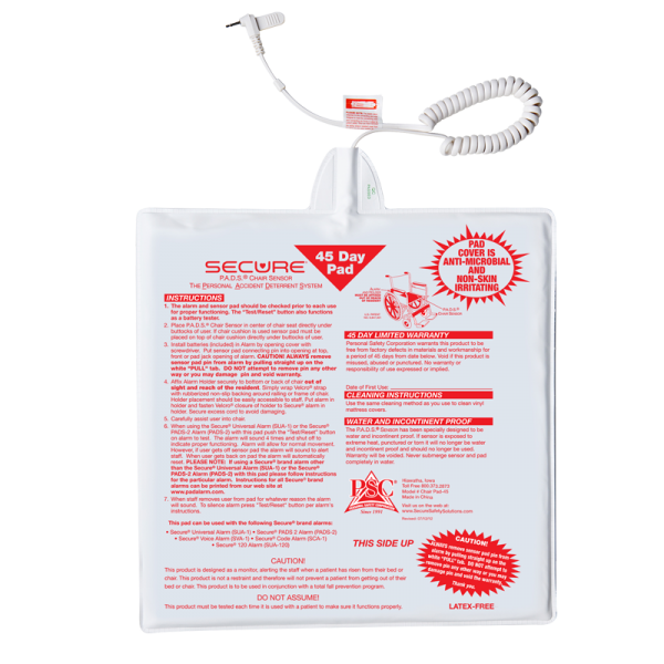 """Secure® 12"""" x 12"""" 45 Day Chair Pad"""
