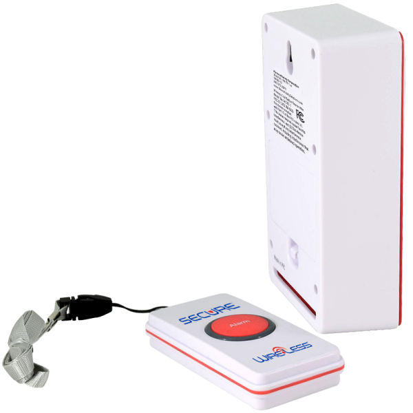 One Call Button Caregiver Alert System - Back Angle