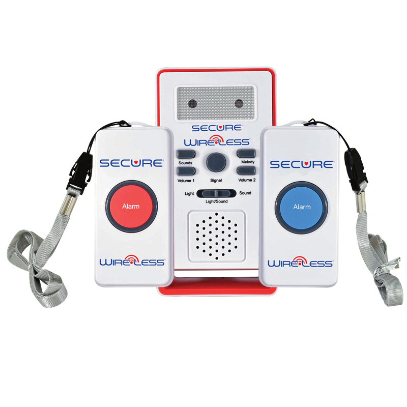 Wireless Two Call Button Caregiver Alert System Secure