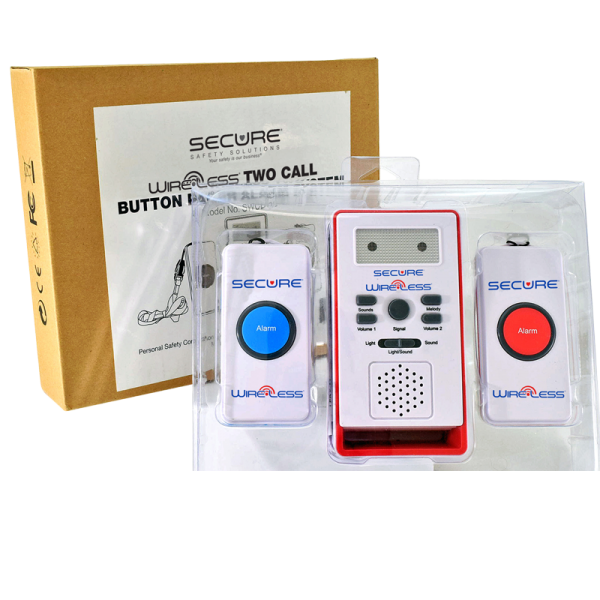 Two Call Button Caregiver Alert System - packaged