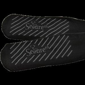 Secure® Bariatric No-Slip Socks - Black - Tread
