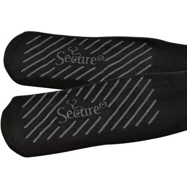 Secure® Bariatric No-Slip Socks - Black - Tread