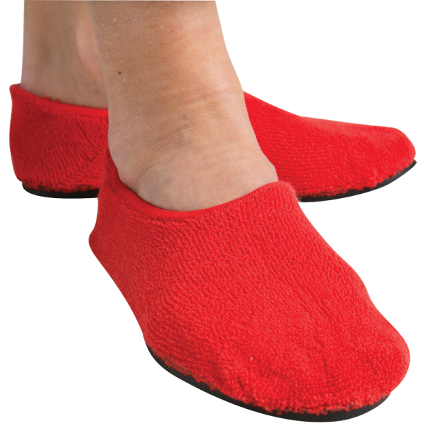 Secure® Fall Management Non-Slip Slippers - in use