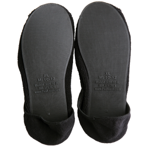 Secure® Fall Management Non-Slip Slippers - Black - tread