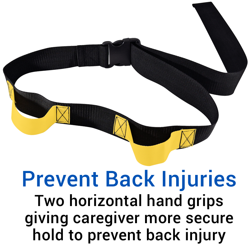 Secure® Two Hand Grip Gait Belt - Prevent Back Injuries