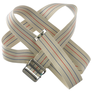 "Secure® 60"" Gait Belt with Metal Buckle - Striped"