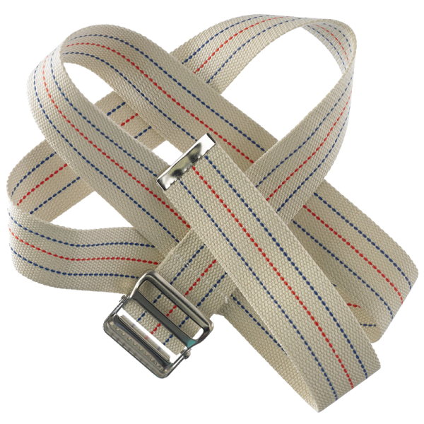 """Secure® 60"""" Gait Belt with Metal Buckle - Striped"""