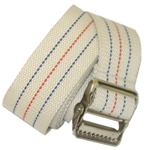 "Secure® 60"" Gait Belt with Metal Buckle - Striped - Rolled"