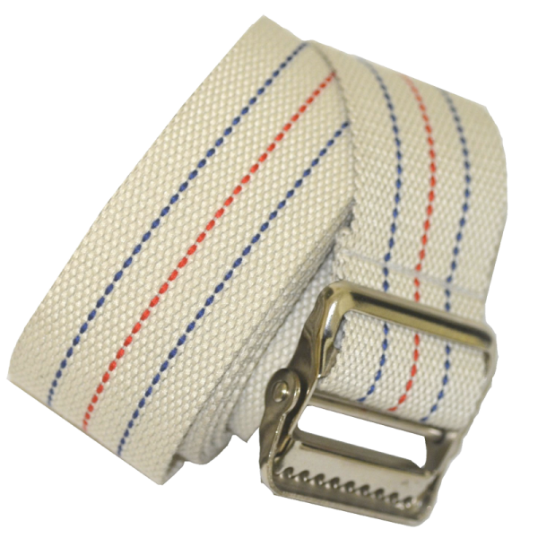 """Secure® 60"""" Gait Belt with Metal Buckle - Striped - Rolled"""