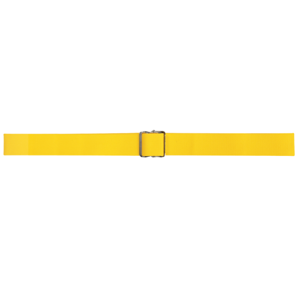 """Secure® 60"""" Gait Belt with Metal Buckle - Yellow"""