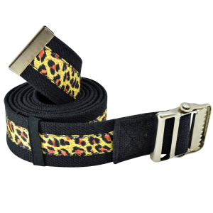 "Secure® 72"" Gait Belt with Metal Buckle - Leopard"