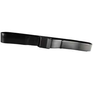 Secure® EZ Clean Vinyl Gait Belt with EZ Release Plastic Buckle - Black