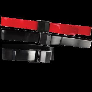 Secure® EZ Clean Vinyl Gait Belt with EZ Release Plastic Buckle - Red & Black