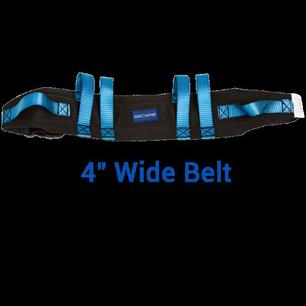 """Secure® Six Hand Grip Transfer & Walking Belt - 4"""" Wide Belt"""