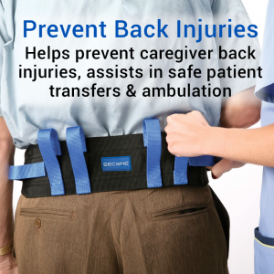 Secure® Six Hand Grip Transfer & Walking Belt - Prevent Back Injuries