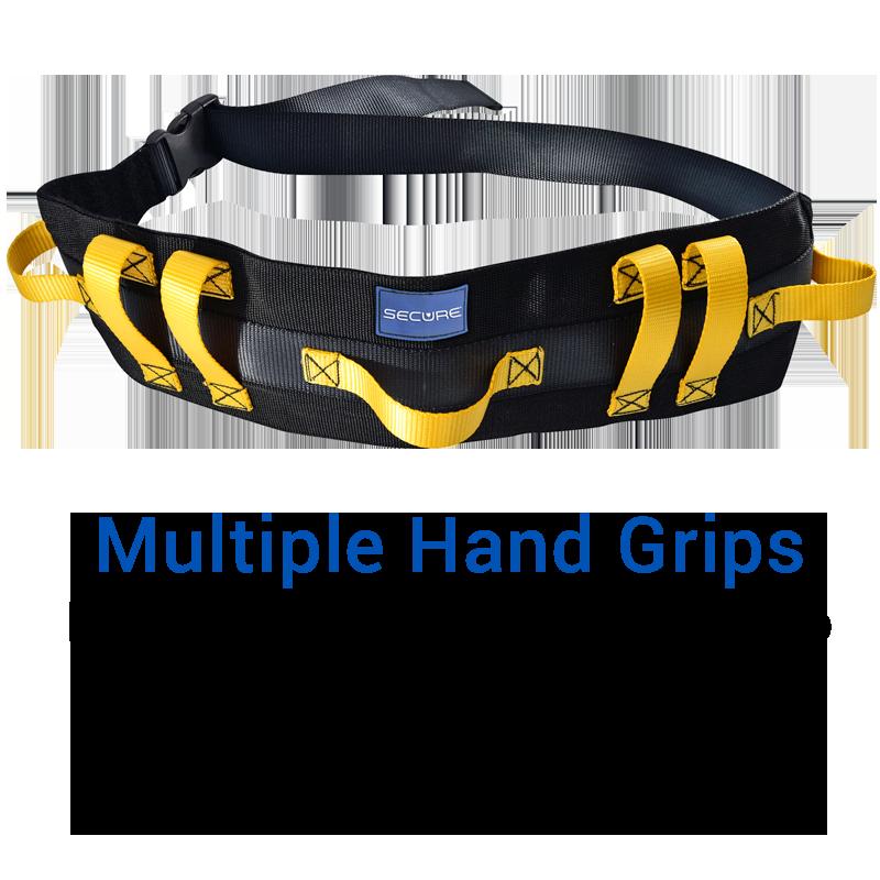 Secure® Ultra Wide Transfer & Walking Gait Belt - Multiple Hand Grips