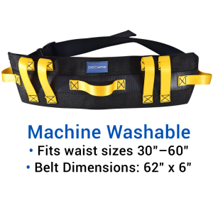Secure® Ultra Wide Transfer & Walking Gait Belt - Machine Washable