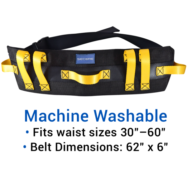 Secure® Ultra Wide Transfer & Walking Gait Belt - Machine Washable
