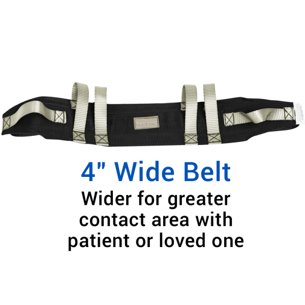 "Secure® Six Hand Grip Transfer & Walking Belt - 4"" Wide Belt"