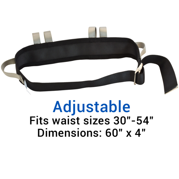Secure® Six Hand Grip Transfer & Walking Belt - Adjustable