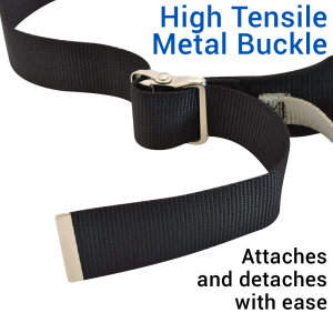 Secure® Six Hand Grip Transfer & Walking Belt - High Tensile Metal Buckle