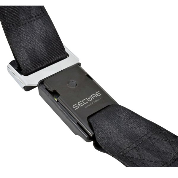 Secure® Non-Monitoring Quick-Release Wheelchair - buckle back