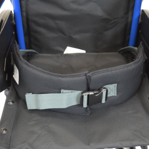 Secure® EZ Release Soft Wheelchair Seat Belt - wheelchair buckled