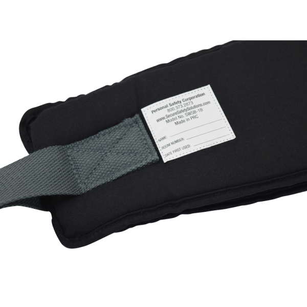 Secure® EZ Release Soft Wheelchair Seat Belt - label