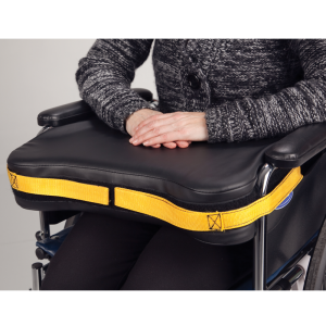 Secure® Wheelchair Easy-Release Lap Cushion in use