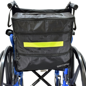 Secure® Wheelchair Backpack in black with Wheelchair