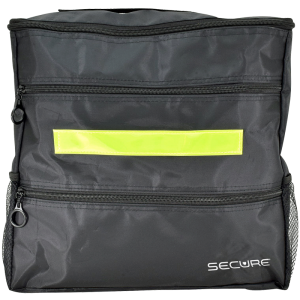 Secure® Wheelchair Backpack in black - front view