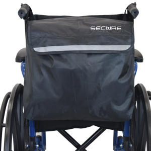 Secure® Wheelchair Backpack, Black/Reflective - Wheelchair Back