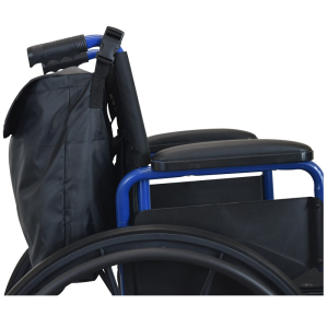 Secure® Wheelchair Backpack, Black/Reflective - Wheelchair side