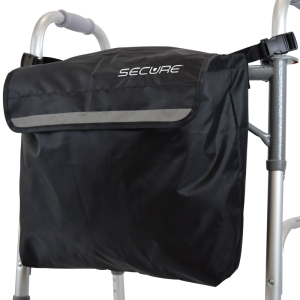Secure® Wheelchair Backpack, Black/Reflective - Walker