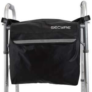 Secure® Wheelchair Backpack, Black/Reflective - Walker front
