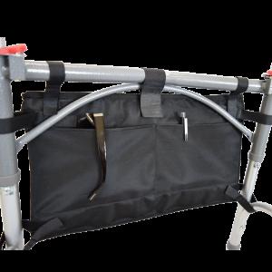 Secure® 6-Pocket Walker Bag in Black - Walker Back