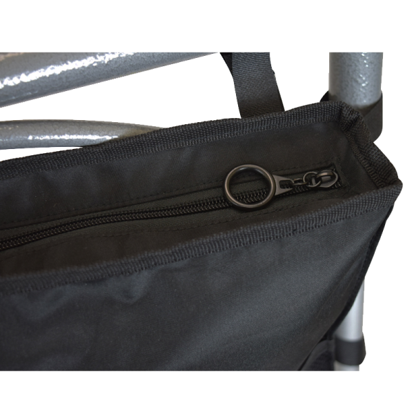 Secure® 6-Pocket Walker Bag in Black - O-ring Zipper