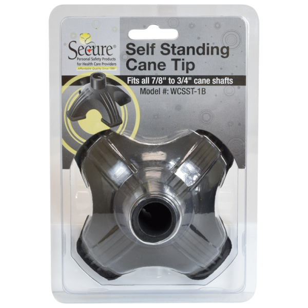 Secure® Self Standing Cane Tip package front