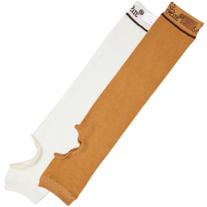 Ultra Soft Wound Prevention SecureSleeves for Arms in Brown/Ivory - straight
