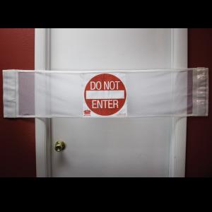 Secure® 3-in-1 Door Safety Banner - Do Not Enter Closed Door