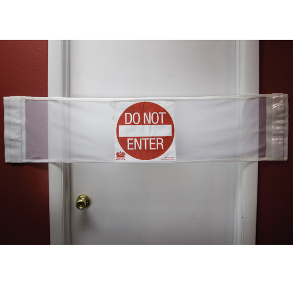 Secure® 3-in-1 Door Safety Banner - Do Not Enter Closed Door