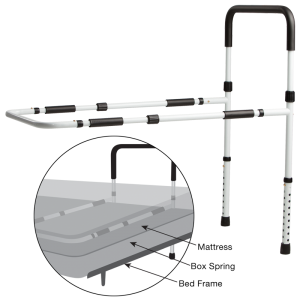 Secure® Adjustable Bed Rail w/Floor Support - installation