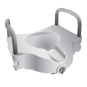Secure® Elevated Toilet Seat with Padded Hand Rails