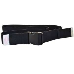 "Secure® 60"" Black Gait Belt w/YKK plastic buckle"